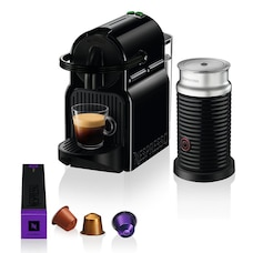 Nespresso Inissia Espresso Machine with Aeroccino by De'Longhi - Black