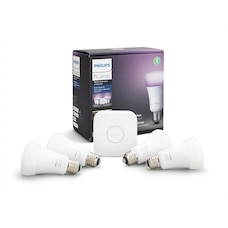 Philips Hue White and Colour Ambiance A19 Starter Kit – 4-Pack