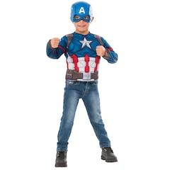 Captain America Deluxe Costume Top Box Set