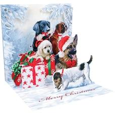 Holiday Card Christmas Dogs