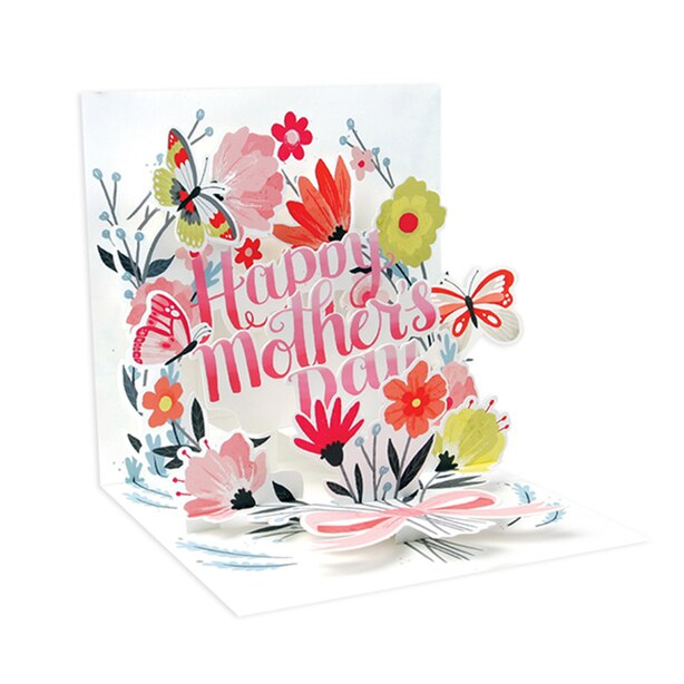 Paper E. Clips Mother's Day Card Springtime Bouquet