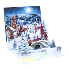 Holiday Card Midnight Village