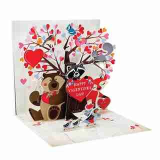 Paper E. Clips Valentine Card Woodland Valentine