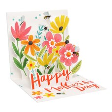 Paper E. Clips Mother's Day Card Garden Bumble Bees