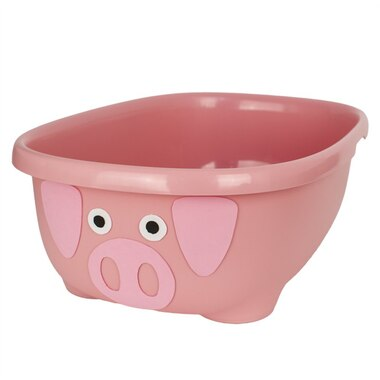 TUBIMAL™ Infant & Toddler Tub with Lid and Bath Hammock PIG