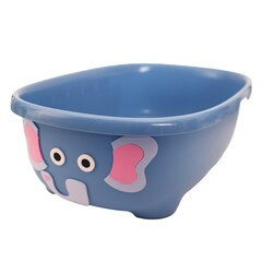TUBIMAL™ Infant & Toddler Tub with Lid and Bath Hammock Elephant