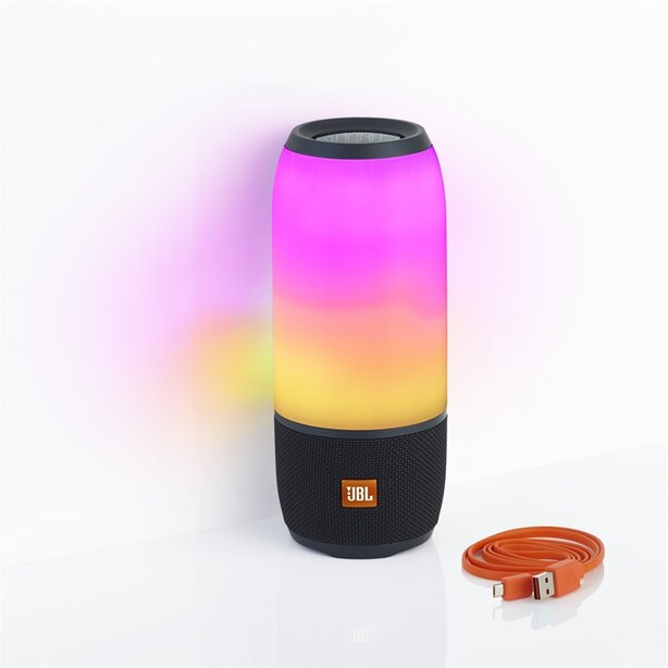 JBL Pulse 3 Portable Bluetooth Speaker with Light Show - Black
