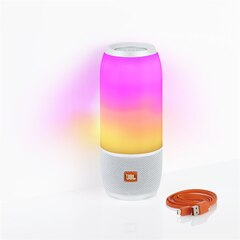 JBL Pulse 3 Portable Bluetooth Speaker with Light Show - White
