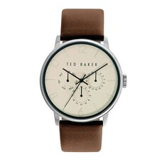 Ted Baker London NIAFALS Round Leather Strap Watch
