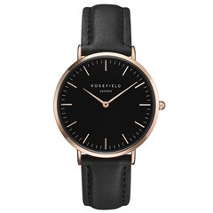 Rosefield Bowery Watch - Black Leather