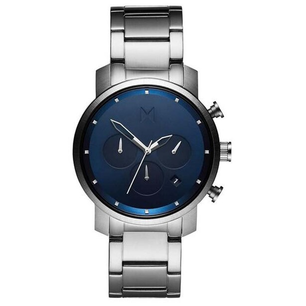 MVMT MEN'S CHRONO 40 COLLECTION WATCH - NAVY SILVER, SIZE 40mm