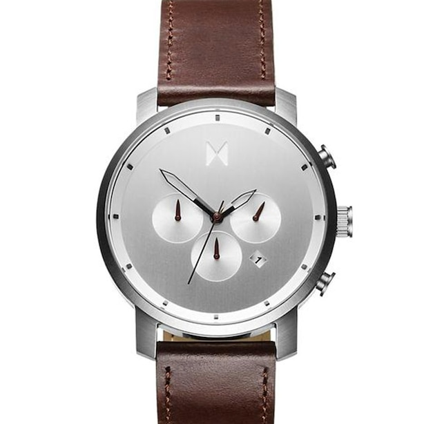 MVMT MEN'S CHRONO WATCH - SILVER BROWN, 45MM