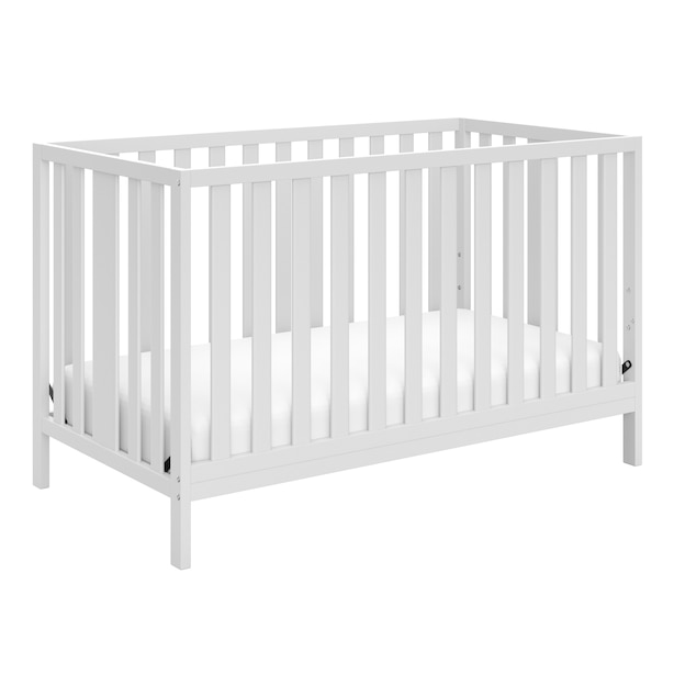STORKCRAFT PACIFIC 4-IN-1 CONVERTIBLE CRIB WHITE