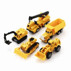 Die-Cast Toy Construction Vehicle Set 5-Pack