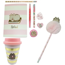 PUSHEEN TRAVEL MUG & STATIONERY BUNDLE