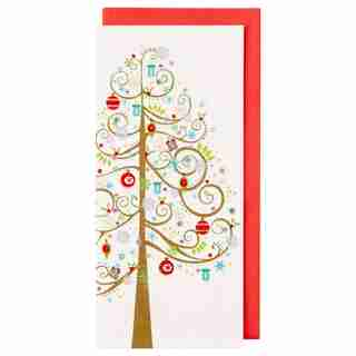ALLEGRO WHIM TREE WITH GIFTS BOXED NOTES, SET OF 16