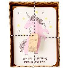 Cartes en boîte – Licorne magique, ensemble de 10
