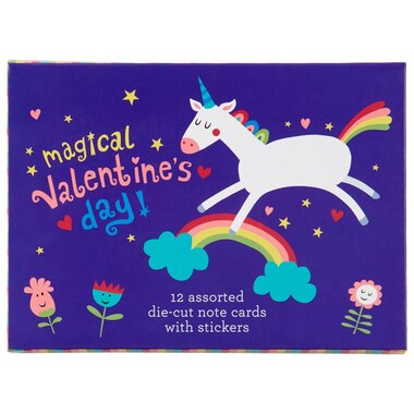 Valentine's Day Cards Pack - Unicorns and Rainbows