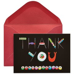 Papyrus Studio Sushi Thank You Note Cards