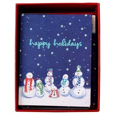 Prelude Row of Snowman Boxed Cards, Set of 20