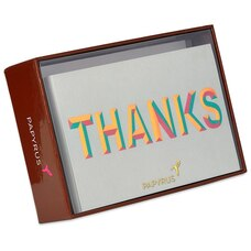 BEVELLED THANK YOU BOXED NOTES SET OF 12