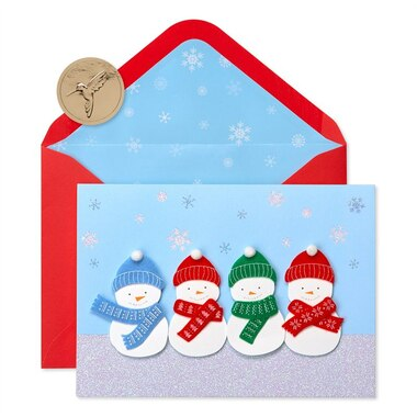Papyrus Holiday Boxed Cards Snowmen with Scarves