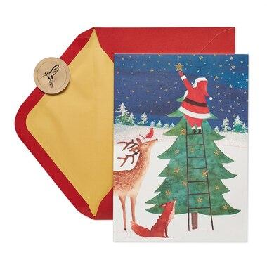 Papyrus Holiday Boxed Cards Santa Star