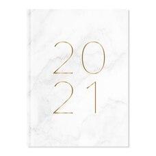 2021 12 MOIS AGENDA ANNUEL MARBRE BLANC