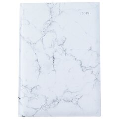 2019 12-Month Large Weekly Planner Marble White