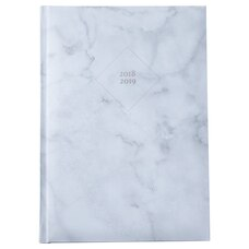 2018-2019 Embossed Softcover Academic Agenda Marble White