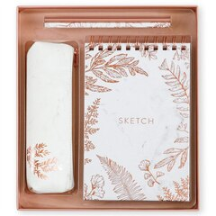 Sketchbook Giftset White Marble