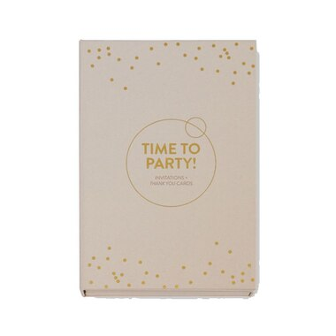 INVITATION SET GOLD DOTS