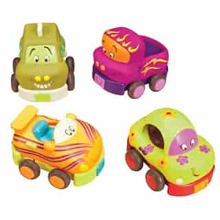 Wheee-Is™ SOFT PULL-BACK CARS