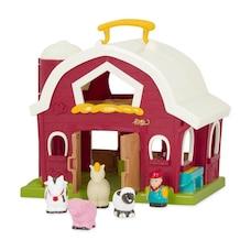 Battat® Big Red Barn with 4 Farm Animals