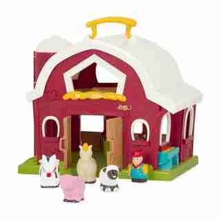 Battat Big Red Barn with 4 Farm Animals