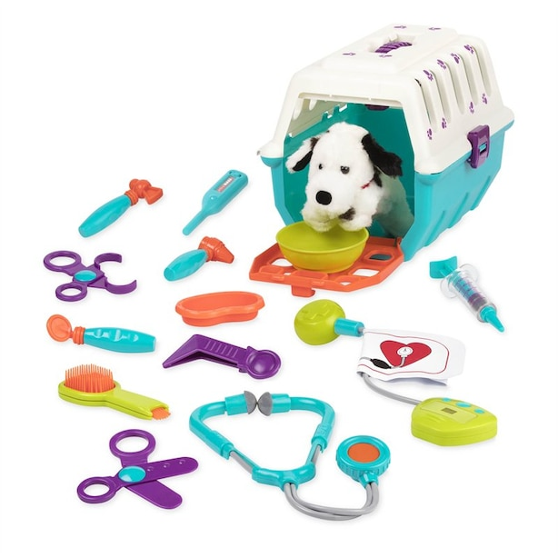 DALMATION PUPPY, CRATE AND VET KIT