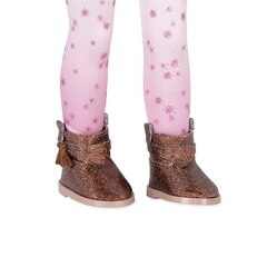 "Bright Stars! 14"" Doll Glitter Boots with Tassels & Leggings"