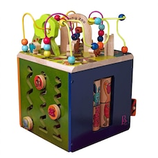B. Wooden Activity Zany Zoo Alpha Cube