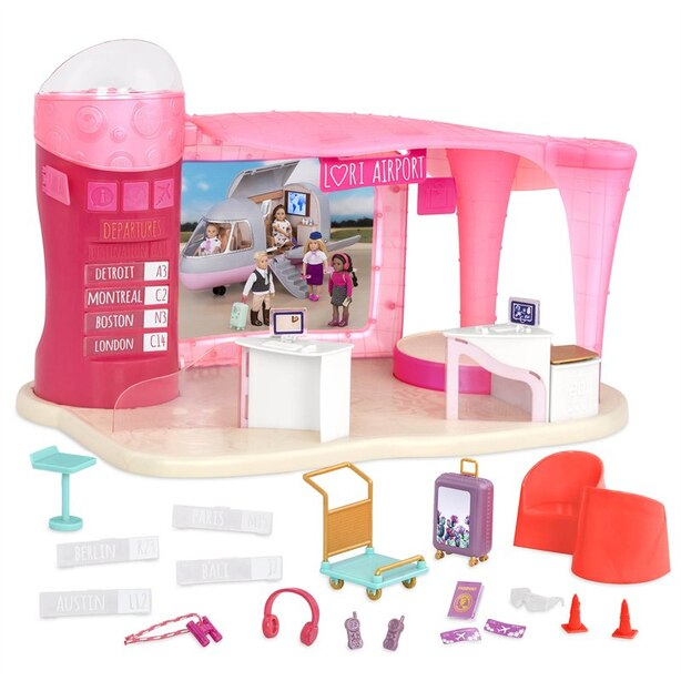 """Lori Airport & Accessories for 6"""" Doll"""
