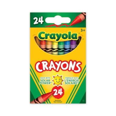 24 crayons de cire, regulier