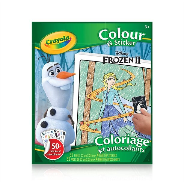 Crayola Colour & Sticker Book, Disney Frozen 2