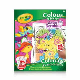 Crayola Colour & Sticker Book, Scribble Scrubbie Animals