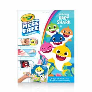 Pages et mini marqueurs Crayola Color Wonder sans dégâts Pinkfong Baby Shark