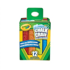 Crayola 12ct Outdoor Coloured Chalk