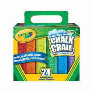 24 bâtons de craie lavable pour trottoir Crayola