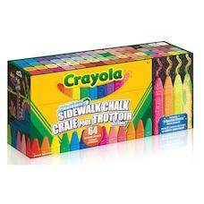 64 bâtons de craie lavable pour trottoir Crayola