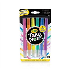 Crayola Take Note 6ct Eraseable Highlighters