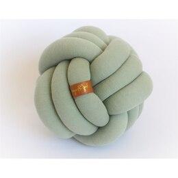 Juju & Jake Large Knot Pillow - Sage Green