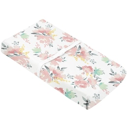 KUSHIES CHANGE PAD COVER - WATERCOLOUR FLOWER