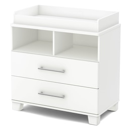 Cuddly Changing Table with Station, Pure White